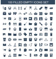 100 empty icons vector