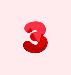 3 blood font template design vector