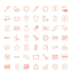 49 template icons vector image