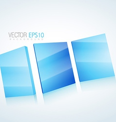 Abstract 3d mirror background vector