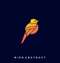abstract bird template vector image