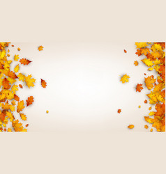 autumn background with orange leaves vector image