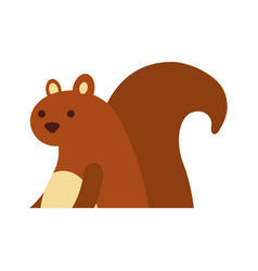 autumn season squirrel animal forest vector image