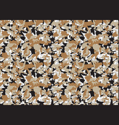 Beige army camouflage pattern camo cloth vector