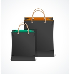 Black paper bag vector