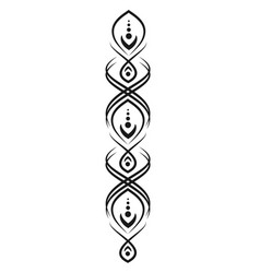 Black pattern for tattoos or mehendi elements for vector