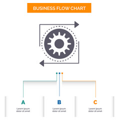 business gear management operation process vector image