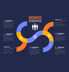 business infographics with charts and graphs vector image