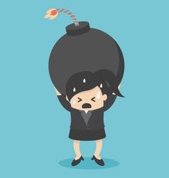 Business woman concepts debt vector