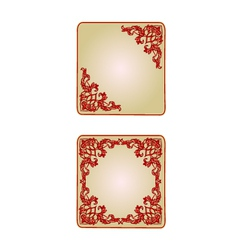 Button banner valentine heart red vintage frame vector