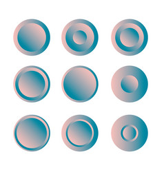 button round with gradient set vector image