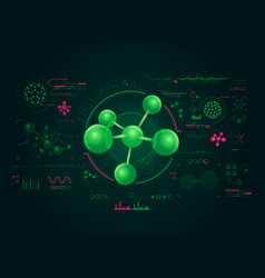chemistry interface vector image