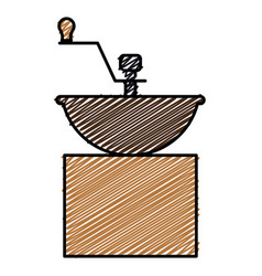 Coffee grinder machine icon vector