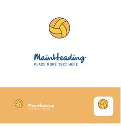 creative basketball logo design flat color logo vector image