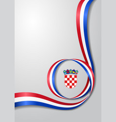 Croatian flag wavy background vector