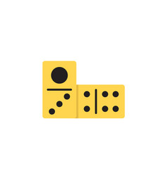 domino dice line icon linear style sign vector image