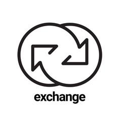 Exchange arrow icon symbol or emblem vector