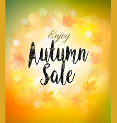 Fall autumn colorful sale background vector