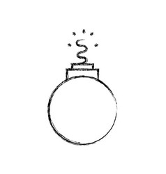 Figure danger bomb weapon to explode destruction vector