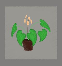 Flat shading style plant begonia vector