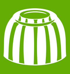 Fruit jelly icon green vector