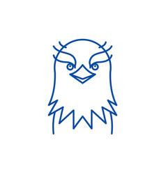 funny eagle line icon concept funny eagle flat vector image