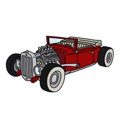 funny red open hotrod vector image