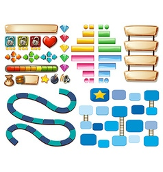 Game template with other elements vector image vector image