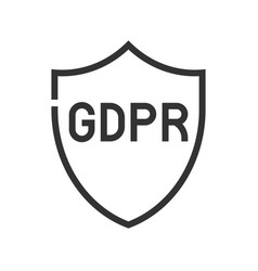 gdpr general data protection regulation icon line vector image
