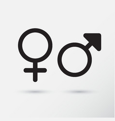 gender symbol icons vector image
