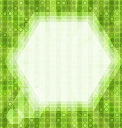 Glare green light background vector