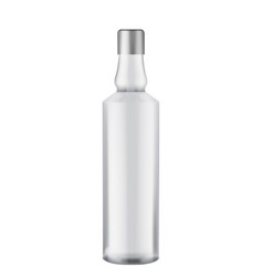 glass votka bottle - mock up template isolated on vector image
