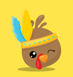 Gobble feather 02 vector