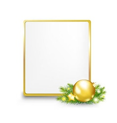 Golden Gift Tag vector image