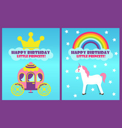 happy birthday collection vector image