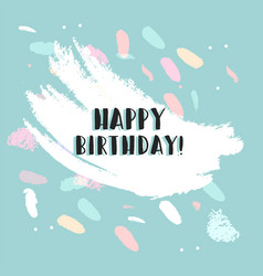 happy birthday confetti card vector image