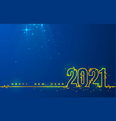 happy new 2021 year holiday cover festive banner vector image
