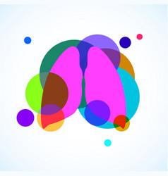 Human lungs logo colorful circles vector