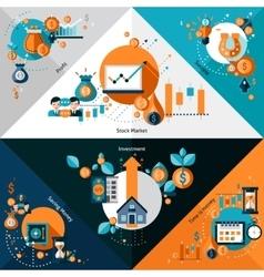 Investment corners set vector
