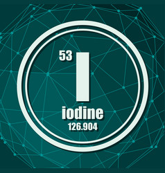 Iodine chemical element vector