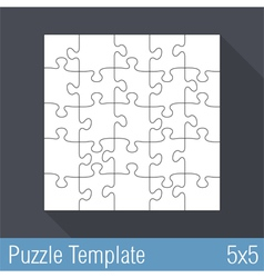 Jigsaw Puzzle Template 25 Pieces vector