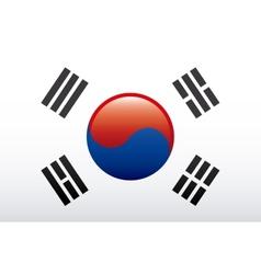 Korea flag vector