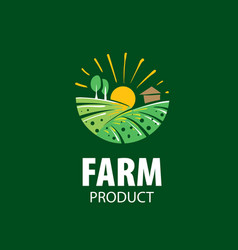 logo with image field for farms vector image