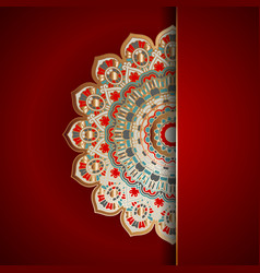 luxury mandala background vector image