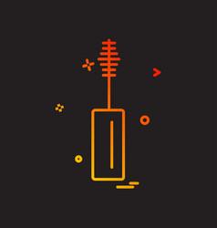 maskara icon design vector image