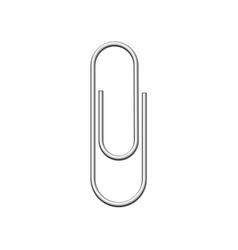 Metallic wire paper clip fastener vector