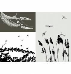Nature grass vector