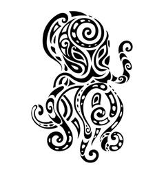 Ocean octopus Ethnic pattern vector image