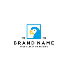 Parrot logo design vector
