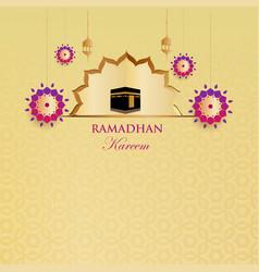 Ramadan kareem islamic background modern template vector